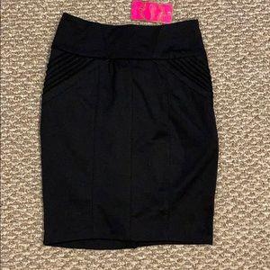 NWT. Black Pencil Skirt